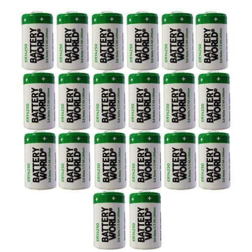 20x Tadiran TL-5101/S ER14250S 3.6V 1/2AA Lithium Standard Terminal Battery RFID AMR