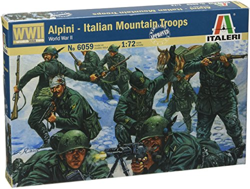 Italeri 6059 - WWII Italian Mountain Troops Alpini Scala 1:72