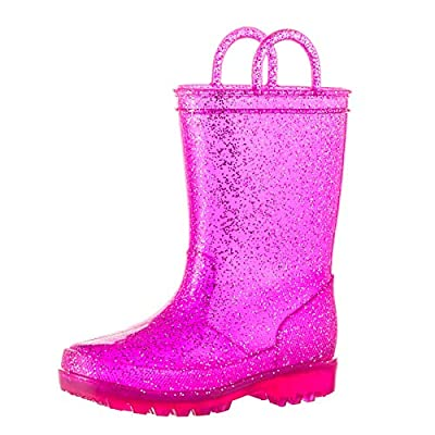 Amazon - Save 40%: ALLENSKY Kids Glitter Rain Boots Waterproof with Easy-on Handles for Girls…