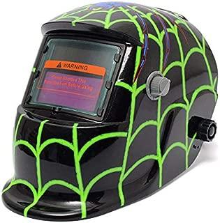 Style Green spider Solar Welder Mask Auto Darkening Welding Helmet - Electrical Welding Tools Helmet Mask & Goggles - 7 X dice, 1 X bag
