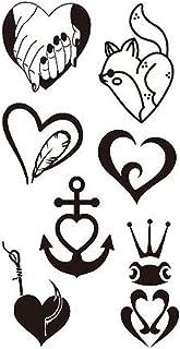 Qqinghan Waterdichte Zwarte Tattoo Sticker Temporar Fake Tattoo Anime Arm Tattoo Halloween Sticker Fake Tattoo For Woman (...