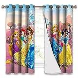 Trelemek Juego de cortinas de princesa, 2 paneles, cortinas de dormitorio, de eficiencia energética, con ojales para dormitorio, 100 x 150 cm