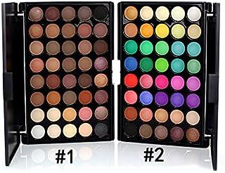 HFXLH 40 Color de Sombra de Ojos Pincel de Maquillaje Mate Paleta de Sombra de Ojos Impermeable Brillante Gama de Maquill...