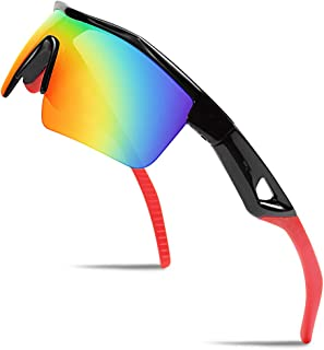 FEISEDY Kids Teens Sports Polarized Sunglasses TR90 Frame...