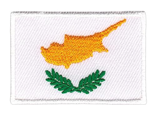 Flagge Zypern Klein Aufnäher Bügelbild Applikation Flicken Patch Größe 4,7 x 3,3 cm