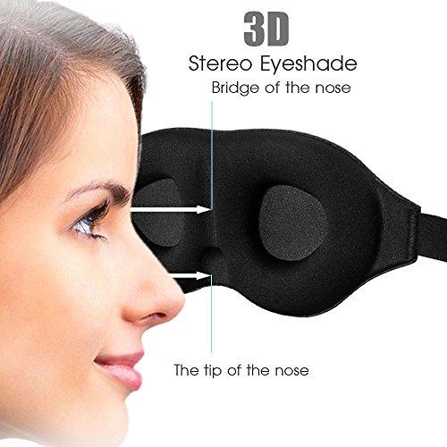 Luxus 3D-Augenmasken mit Memory-Foam, passt sich perfekt an, ideal für Damen mit Wimpernverlängerungen
