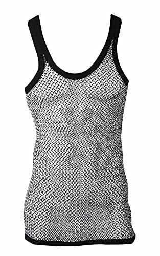 True Face Chaleco de cuerda para hombre 100% algodón slim fit malla gimnasio vacaciones playa verano Tank Tops