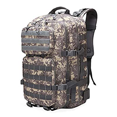 Military Molle Tactical Backpack 45L Large 3 Day Assault Pack Molle Bug Out Bag Army Rucksacks for Hunting Trekking Camping(ACU)