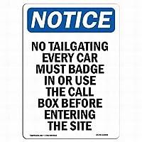 屋外の壁芸術装飾OSHA通知標識-すべての車の看板をする必要があります錫標識金属標識通知安全セキュリティサイン通り装飾