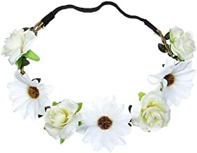 LODDD Simulation Sunflower Rose Hair Band Lady Fresh Flower Portrait Photo Holiday Wedding Headband Headwear