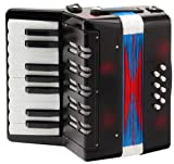 Classic Cantabile Bambino acordeon para niños, negro, 8 bajos