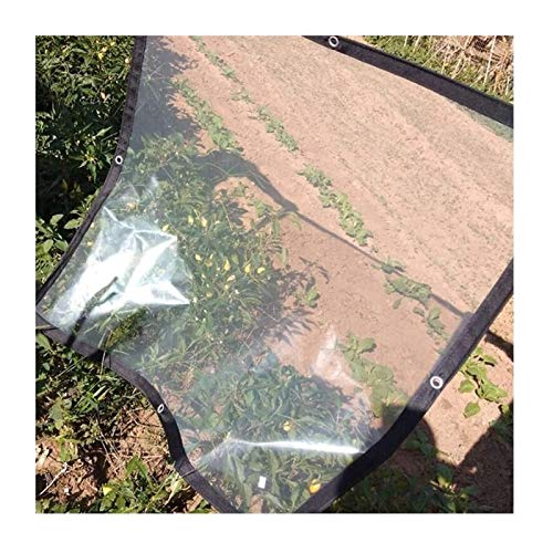ETNLT-FCZ Toldo Clear Tarpaulin Impermeable Tela Impermeable, Resistente al Agua Lona Muebles de jardín, Cubierta Protectora Transparente, a Prueba de Lluvia Impermeable al Aire Libre