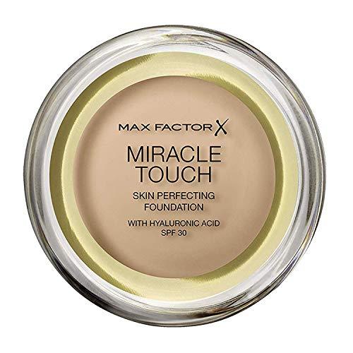 Max Factor - Miracle Touch Fond de teint - nouvelle formule améliorée, FPS 30 et acide hyaluronique, Sand 60 - 11,5 g