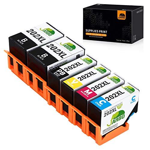 JARBO 202XL Patronen Ersetzt für Epson 202XL 202 XL Druckerpatronen mit hoher Reichweite für Epson Expression Premium XP-6000 XP-6005 XP-6100 XP-6105, 2 Schwarz/Blau/Rot/Gelb/Foto-schwarz, 5er-Pack