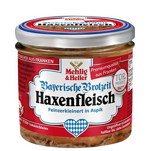 Bayerische Brotzeit Haxenfleisch im 250g Glas, Fein zerkleinert in Aspik