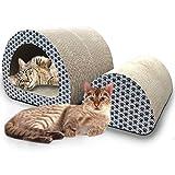 iPrimio Pack Cat Tunnel & Cat Log - Cat Scratchers Cardboard - Includes Catnip and Anti Slip Pads