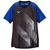 [Mizuno] サッカーウェア ジャガード使いフィールドシャツ 半袖 細身 P2MA0041 サーフブルー 日本 XL (日本サイズXL相当)