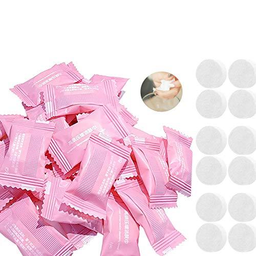 Toalla Comprimida,100 Piezas Comprimidas Mágicas Toallas comprimidas Paños de Monedas Comprimidos Toallas Biodegradables Mini Toallita de Mano Comprimida Que Ahorra Espacio para Viajes Deportes