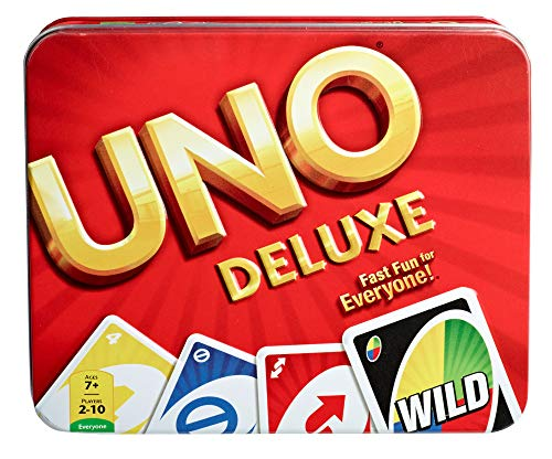 Mattel Games, Lata UNO Deluxe, Multi Color, Basic Pack