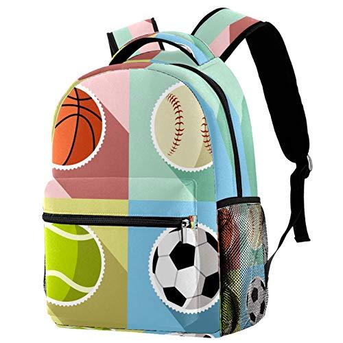 Mochila deportiva de pelota de baloncesto y baloncesto para la escuela, mochila de viaje, casual, para mujeres, adolescentes, niñas y niños