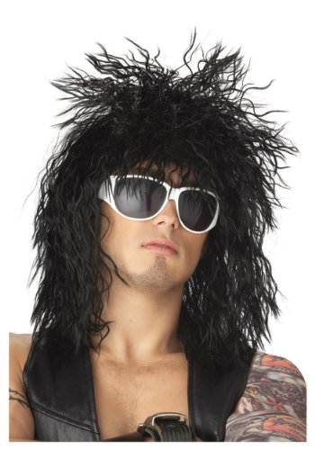 California Costumes Black Rocker Dude Wig Standard