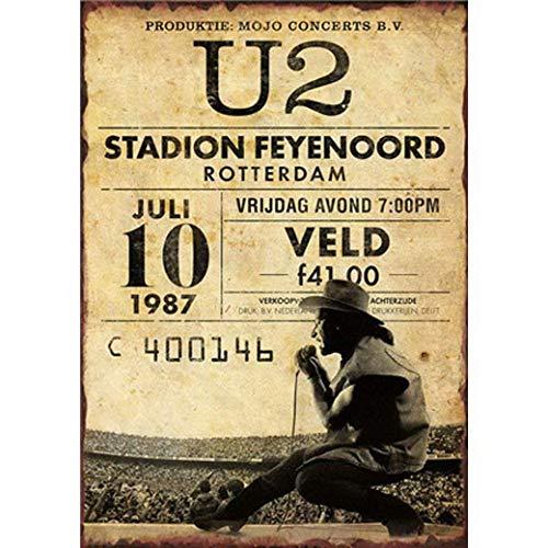 HALEY GAINES U2 Stadion Feyenoord Rotterdam Muur Tin Tekens Decor Metalen Plaques Waarschuwing Notice IJzeren Schilderij Voor Bar Koffie Huis keukens Badkamers Garages 20 * 30cm