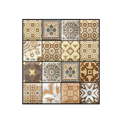 QINDONG Adhesivo de Pared Mural 3D Estéreo Azulejos Anti Collet Higiene Cocina Pared Stick PVC Wall Stick (10PC)