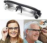 TWLLYOOM Dial Adjustable Glasses Variable Focus for Reading Distance Vision Eyeglasses Unisex Myopia Glasses
