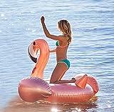 SKY TEARS Aufblasbarer Flamingo Schwimmring Luftmatratzen Spielzeug Pool Schwimmen Float Halterungen Sommer Party Spielzeug PVC Aufblasbarer Schwebebett für 1 Personen (Rose Gold Flamingo)