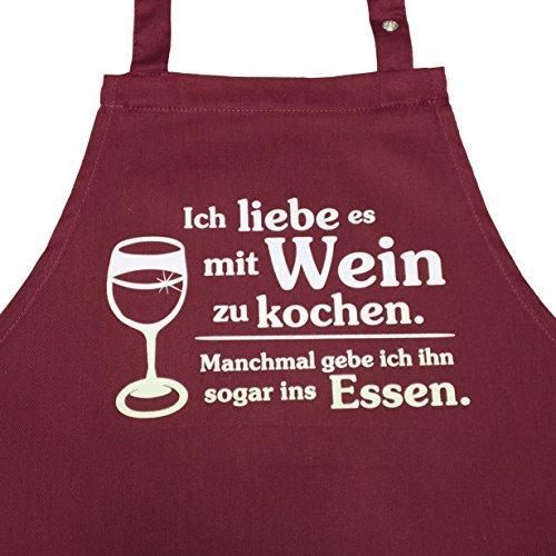 Grillkönig Ich Liebe es mit Wein zu Kochen. Manchmal gebe ich ihn sogar ins Essen. (weinrot) Geschenk Wein Weinliebhaber