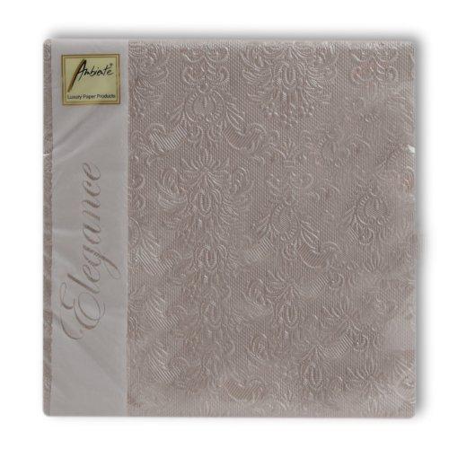 Ambiente serviettes 40 x 40 cm-taupe pearl mariage fête