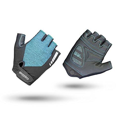 GripGrab Unisex's Women's ProGel Padded Fingerless Anti-Slip Summer Cycling Gloves Cushioned Shock-Absorbing Road Gravel Mountain-Bike Short, Green, X-Small