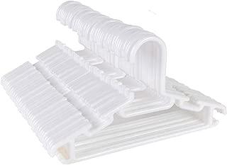 Tosnail 40 Pack Plastic Children's Hangers - White