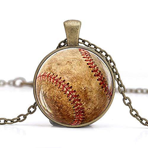 Baseball-Anhänger, Baseball-Halskette, Baseball-Schmuck, Baseball-Spieler, Team-Mutter, Baseball-Geschenk, Baseball-Fan-Geschenk