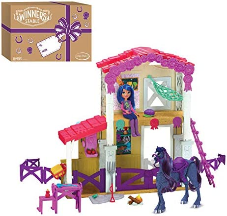 Winner s Stable Camp Clover Barn Playset 33 Pieces Extending Barn with Articulated Horse Figure product image