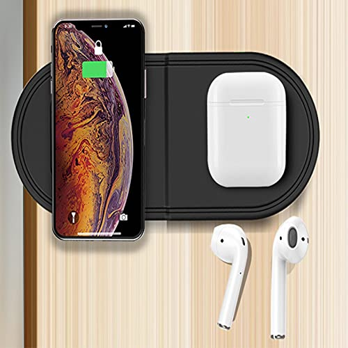 Cargador Inalámbrico para iPhone 3 En 1 Estación De Carga Inalámbrica para I Phone 12 11 X XR XS 8 Apple Watch 5 4 3 2 1 iPad Y Airpods Pro 2