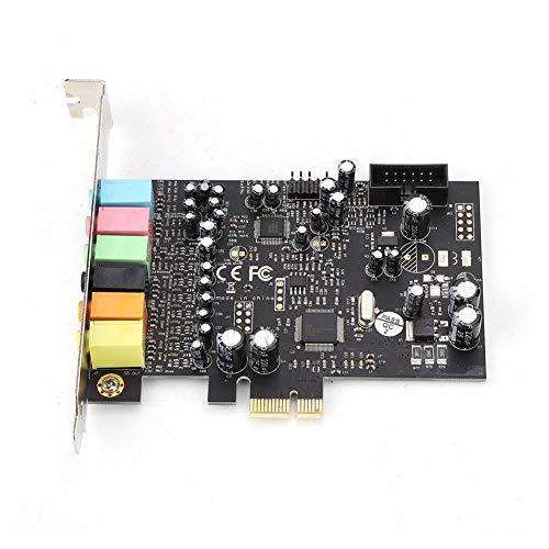 Nunafey Tarjeta de Sonido PCI Interna Negra de Baja latencia, Tarjeta de Sonido Full Duplex Mixer, para reproducción de Video/Juego