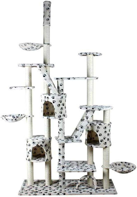 Dixinla Cat climbing frame Sisal Corrugated Cat Scratch Board sisal cat cat Nest Cat Toy 130  50  230260cm