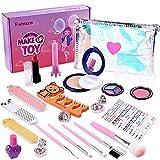 Faburo 26pz Set de Maquillaje Niñas para Niñas en Fiesta, Juguetes para Chicas para Cumpleaños Cosméticos Lavables Set de Maquillaje de Fantasía para Niñas - Ideal para Niñas