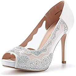 Divine-01 High Heels White Color Shoes