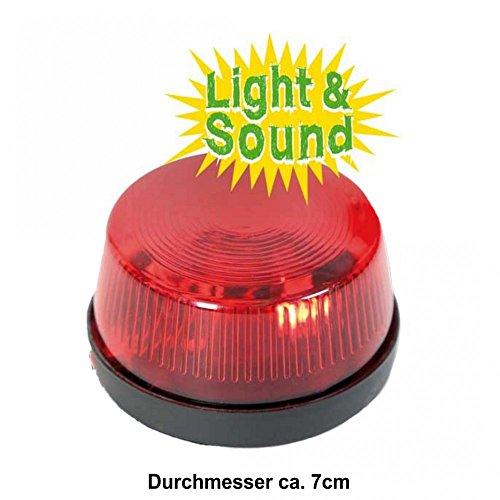 Blinklicht mit Ton 7cm Zubehör Feuerwehrmann Rettungsdienst Licht und Sound