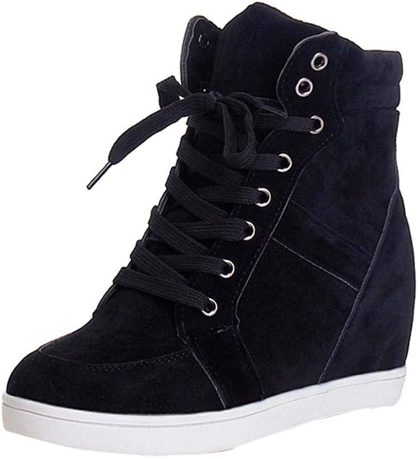 JaHGDU Fashion Women Round Toe Lace-up Leather Boots Casual Party shoes Leisure Elegant Soft Wild Tight Super Quality Black Red for Womens