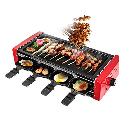 Ljings - Olla eléctrica antiadherente multifuncional para el hogar, mango de acero inoxidable, pies antideslizantes, 1500 vatios, juego de 2