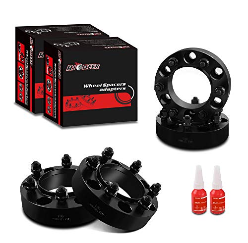 Richeer 4 PCS 1.25 inch 6x5.5 Hub Centric Wheel Spacers for Tacoma 4Runner Tundra Fortuner Ventury FJ Cruiser GX470 GX460, 1.25' Forged 6x139.7mm Wheel Spacer with 12x1.5 Studs & 106mm Center Bore