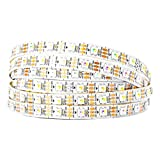 BTF-LIGHTING RGBW RGBNW Natural White SK6812 (Similar WS2812B) 16.4ft 5m 60leds/pixels/m Individually Addressable Flexible 4 color in 1 LED Dream Color LED Strip Waterproof IP30 DC5V