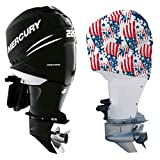 OUTERENVY Outboard Motor Cover for Mercury Verado 6-Cylinder Supercharged [225 HP to 400 HP], American Patriot