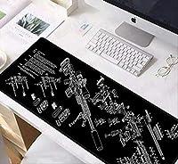 マウスパッドCS GOガンパーツm14 AR 15 HK45 AK47 98KロックエッジマウスパッドゲームラージマウスパッドキーボードマットA