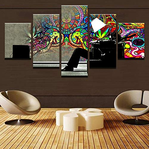 GHTAWXJ schilderij foto bureau wandlamp voor de woonkamer schilderij afbeeldingen canvas muur 30x60cmx2 30x70cmx2 30x80cmx1 No Frame