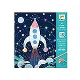 Djeco - Mission Cosmique - 4 Cartes A Gratter - Multicolore