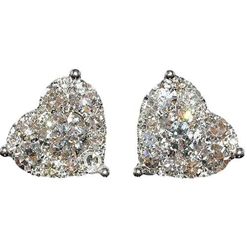 Weilov Joyería Exquisita De Diamantes En Forma De Corazón Brillante única para Mujer, Pendiente De Cristal, Diseño Creativo, Pendientes De Corazón, Regalo,